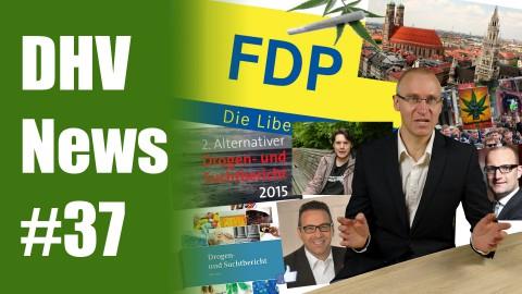 FDP beschließt Legalisierung | Drogen- und Suchtbericht 2015 | DHV News #37