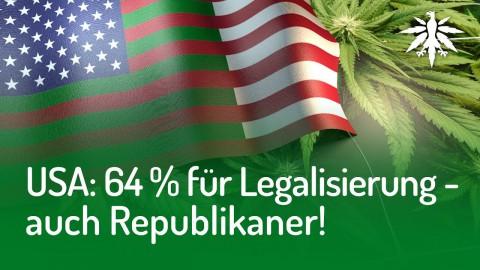 USA: 64% für Legalisierung - auch Republikaner! | DHV News #142