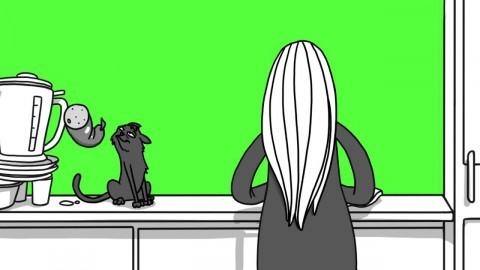 """Zu breit?"" Kampagne Motiv Katze"
