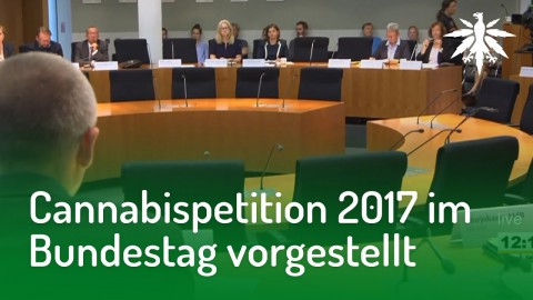Cannabispetition 2017 im Bundestag vorgestellt | DHV-News #169