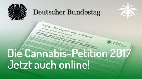 Die Cannabis-Petition 2017 - Jetzt auch online!