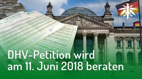 DHV-Petition wird am 11. Juni beraten | DHV-News #166
