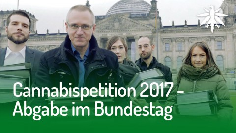 Cannabispetition 2017 - Abgabe im Bundestag