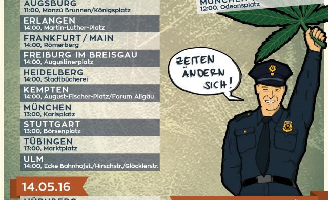 Global Marijuana March 2016 Poster Flyer Und Aufkleber